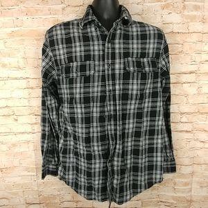 Faded Glory 100% cotton flannel Black White 34-36